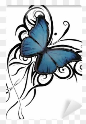 tattoo med sommerfugle