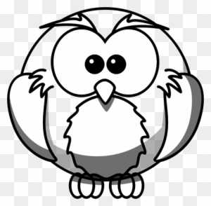 Owl Outline Animal Free Black White Clipart Images Easy Wolf Face