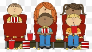 Home Kids Watching Movie In Theater