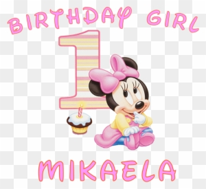 Minnie Mouse Girls First Birthday Shirt V4z6fb Clipart