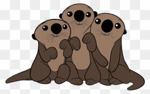 Otis Otter By Seracross Sea Otter Chibi Free Transparent Png