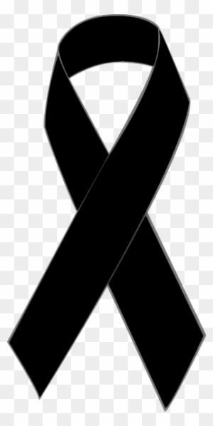 Black Awareness Ribbon Clip Art - Black Breast Cancer ...