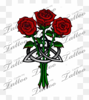 Marketplace Tattoo Roses And Celtic Knot Celtic Cross Tattoos With
