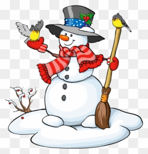 Von Fröhlich Bunten Schneemann Mit Schal Clipart Christmas Snowman