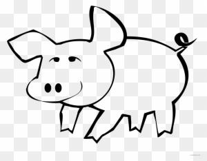 Barn Outline Outline Barn Farm Pig Art Animal Pictures ...
