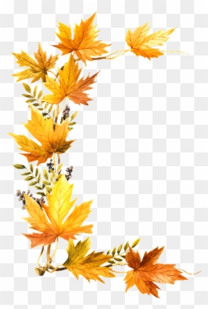Foliage Clipart October - Fall Leaves Transparent Side ...