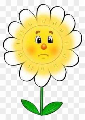 Fleur Jaune Et Blanche Triste Clip Art Free Transparent Png