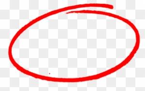 Drawn Number Circle Png Red Marker Circle Png Free