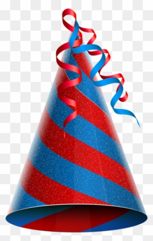 Birthday Party Hat Red Blue Png Clip Art Image