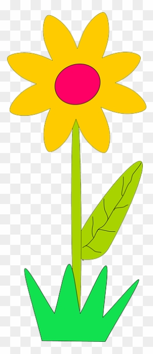 Flower Flowers Cartoon Spring Free Daisy Clip Art Free