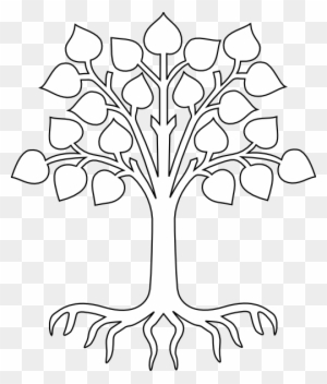 simple tree drawings with roots images pictures becuo tree outline