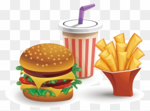 Burger Fries Clipart Illustration Stock Vector (Royalty Free) 1456551836