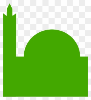 Picto Mosque Background Mosque Vector Hijau Free Transparent Png