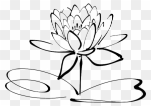 Lotus clipart black and white transparent png clipart images free calligraphy lotus flower line art calligraphy lotus black and white mightylinksfo