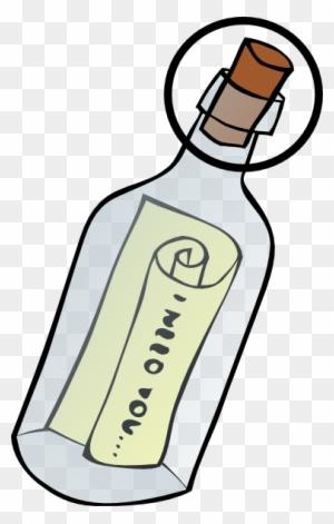 Message in a Bottle Clip Art